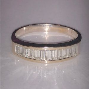 18k Channel Set Baguette Diamond Ring